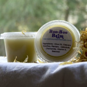 Balm for cuts, scrapes, heals skin and calms rashes