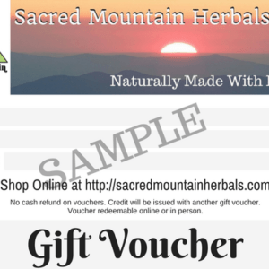 Natural Herbal Botanical Product Gift Certificate Gift Voucher