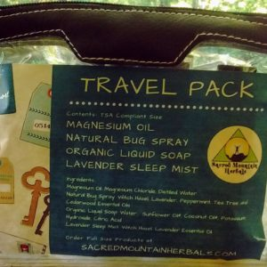Natural Product Travel Size Toiletry Bag